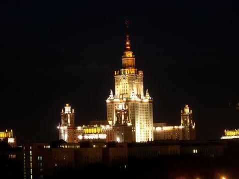 Moskau Universtitaet bei Nacht