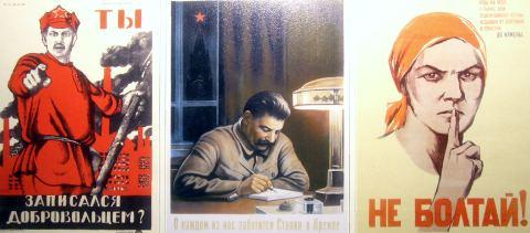 sowjetische propaganda plakate